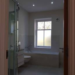 Cleverspark Electrical Installers and Electrians based in Bristol, Bath and the South West of England - An example of interior bathroom spotlight fixtures/fittings